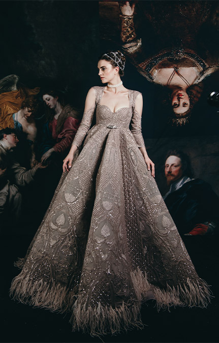 Couture week 2019 Bridal design hand work lehenga Set