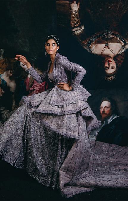 Couture week 2019 Bridal design lehenga Set