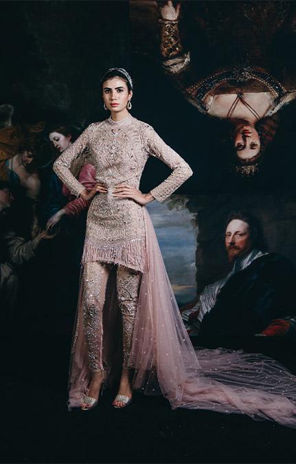 Couture week 2019 Bridal design jumpsuit Set