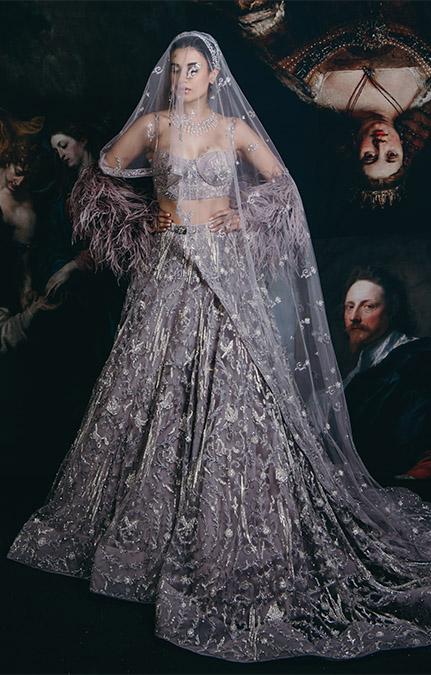 Couture week 2019 Bridal hand work lehenga Set