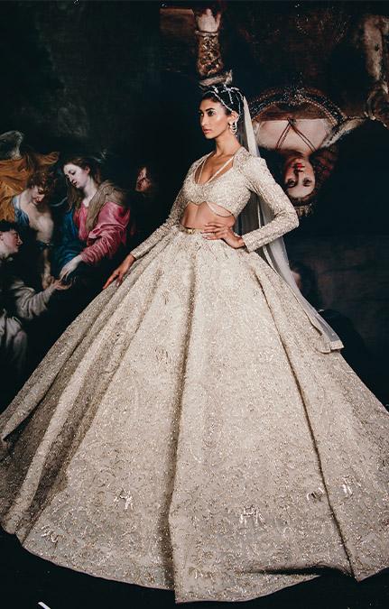 Couture week 2019 Bridal heavy hand work lehenga Set