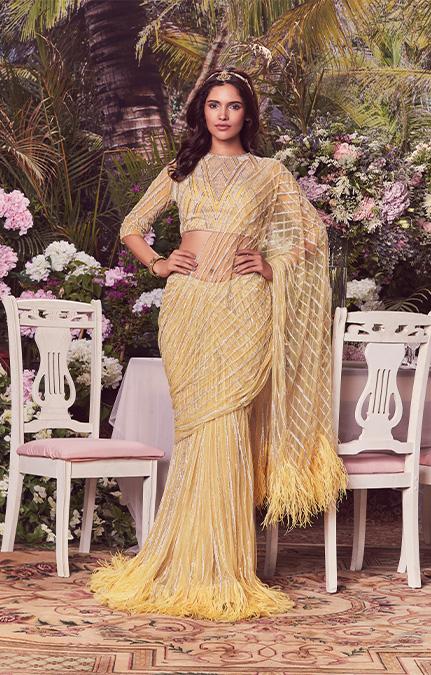 Elizabeth Emboirdered Bridal Saree Gown