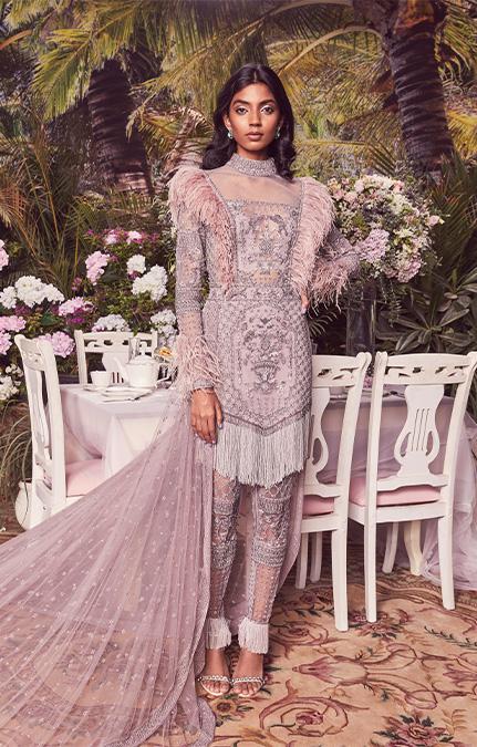 Roseline Emboirdered Short Dress