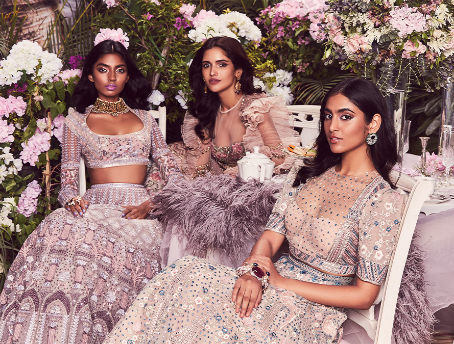 Au Revoir Phool Mahal Bridal Lehenga Set