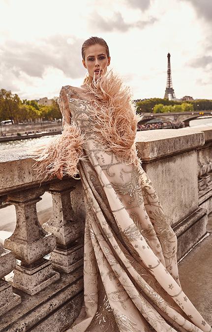 Poised in Paris Bridal Beige Gown