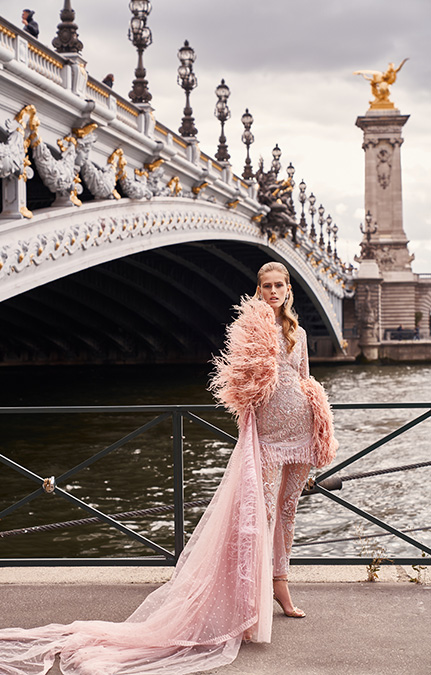 Poised in Paris Bridal Pink long jumpsuit set