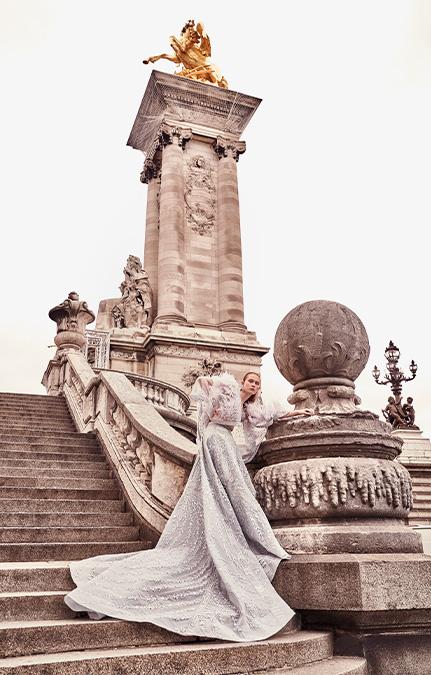 Poised in Paris Bridal long lehenga set