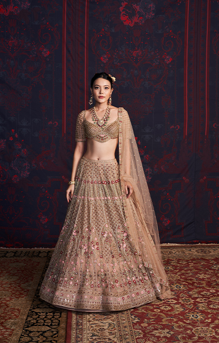 Corinne Designer Embroidered Lehenga set