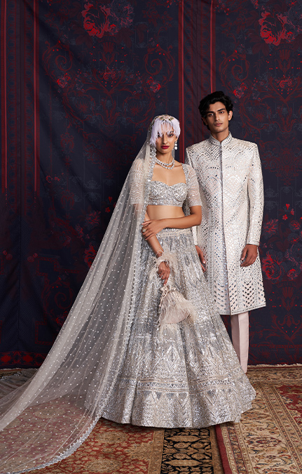 Marry Me in Jaipur Embroidered Lehenga and Serwani set