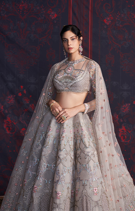Mallory Designer Embroidered Lehenga set