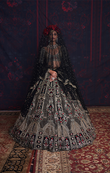 Louise Designer Embroidered Lehenga set