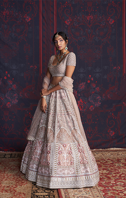 Sylvie Designer Embroidered Lehenga set