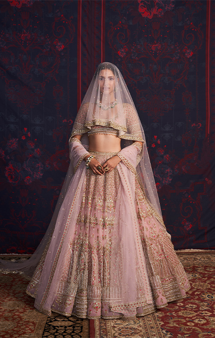Emmeline Designer Embroidered Lehenga set