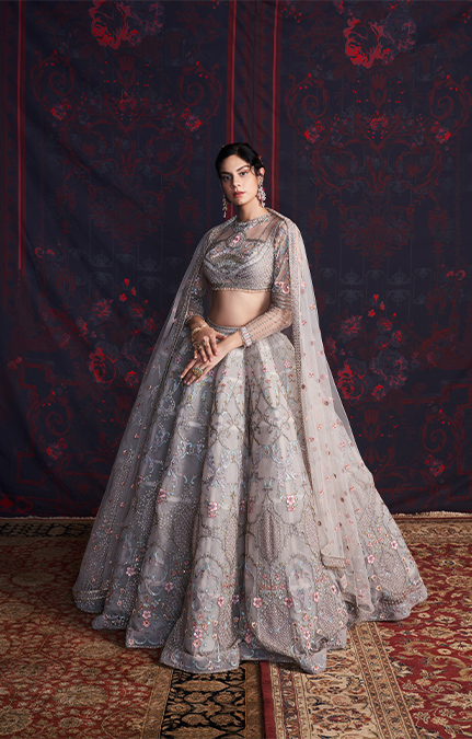 Simone Designer Embroidered Lehenga set
