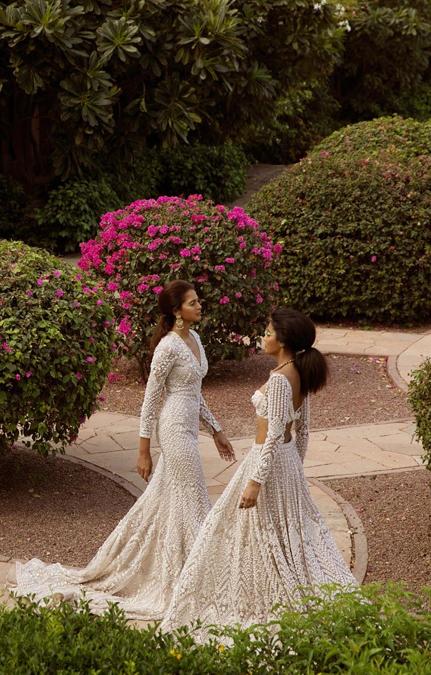 Au Revoir Phool Mahal Foil Gown