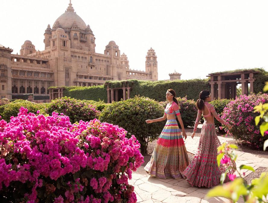 Au Revoir Phool Mahal Pink Lehenga Set